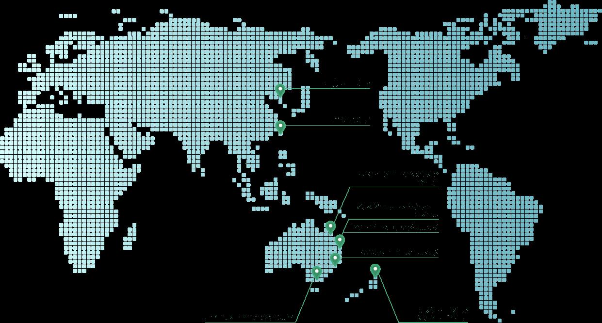 姉妹校世界地図